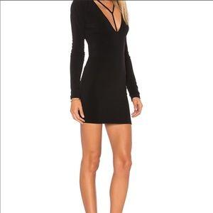 Motel Gealy Bodycon Black Mini Dress for Women